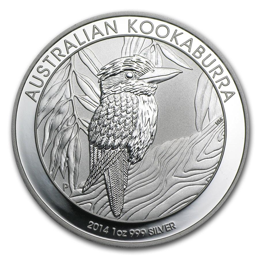 2014 Australia 1 Oz Silver Kookaburra Bu Perth Mint