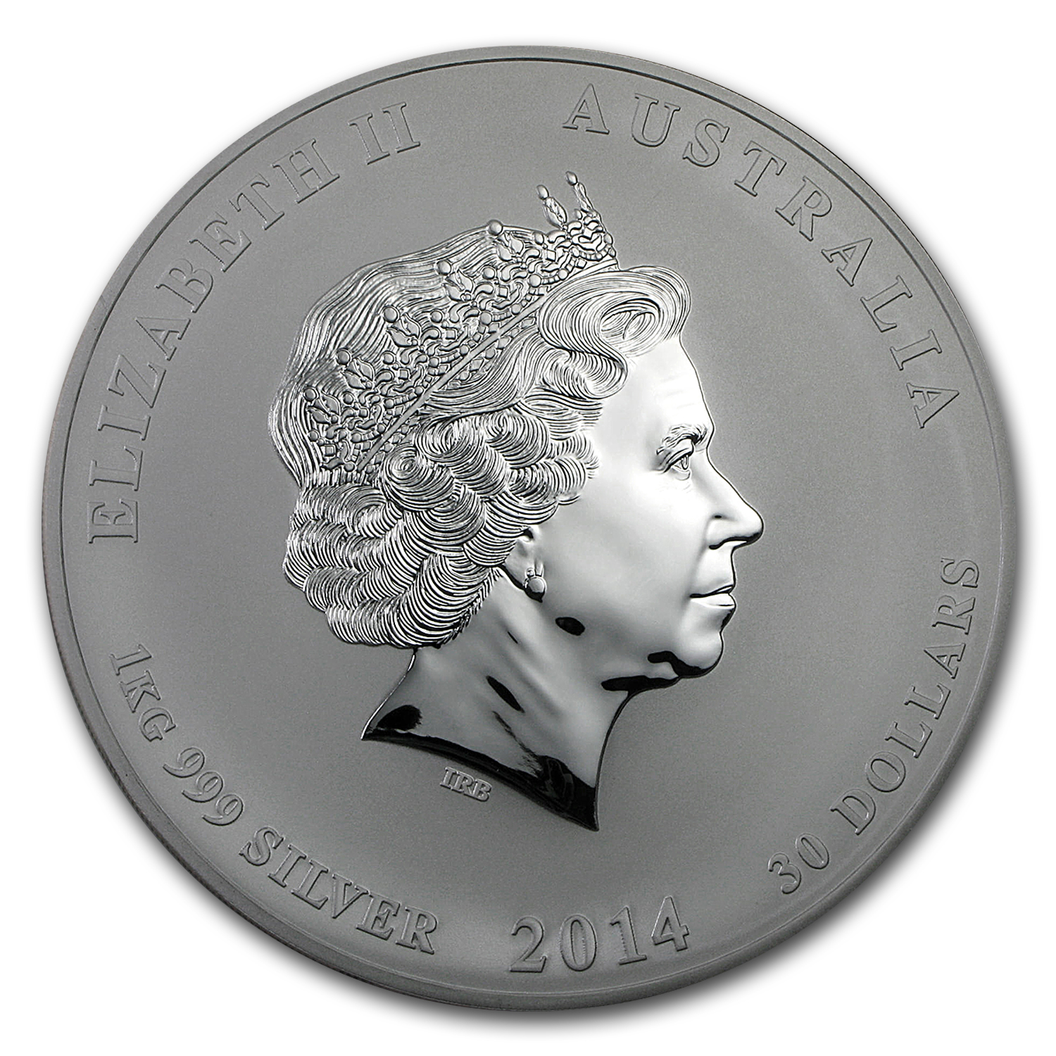 2014 Australia 1 kilo Silver Year of the Horse BU (SII)