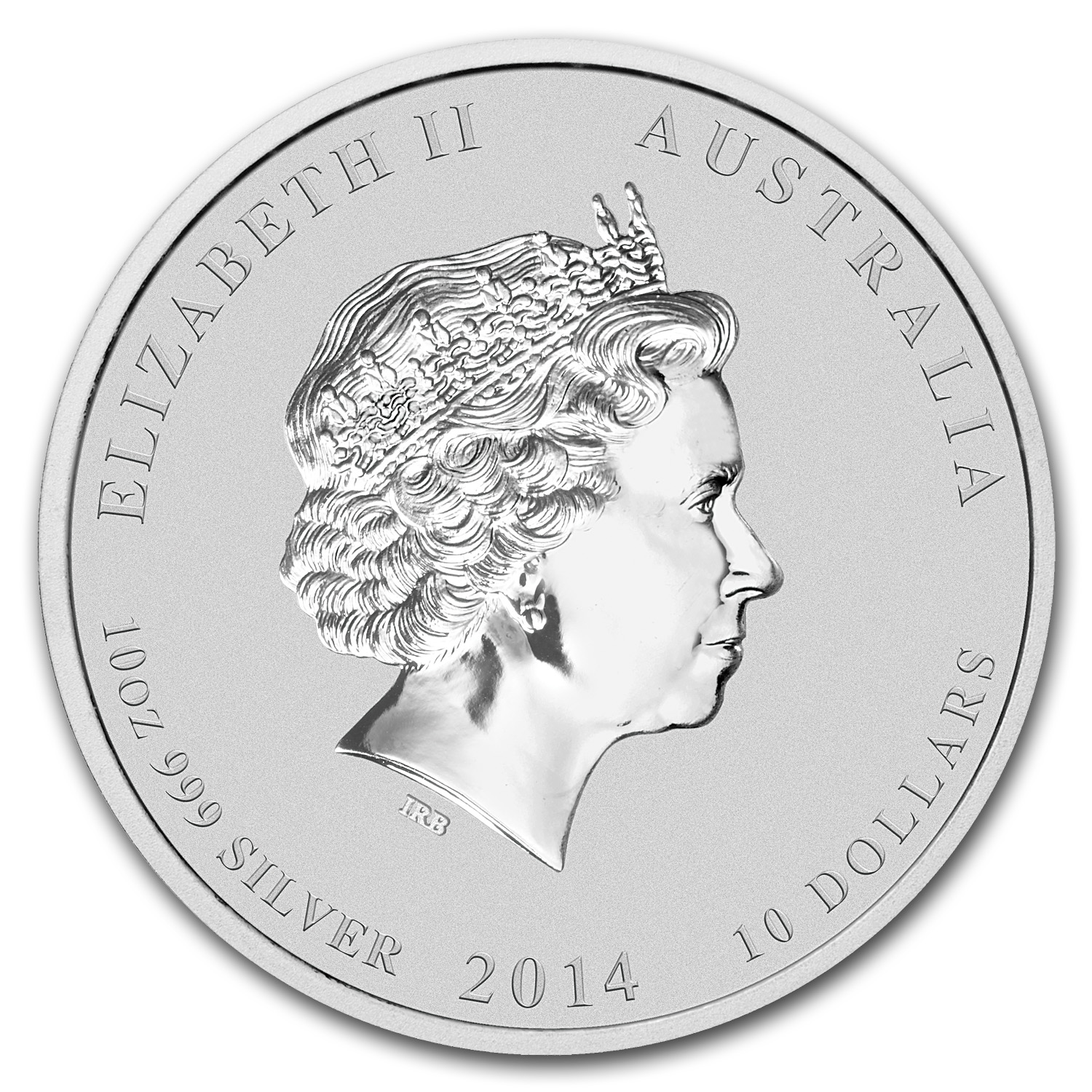 2014 10 oz Silver Australian Lunar Year of the Horse (SII)