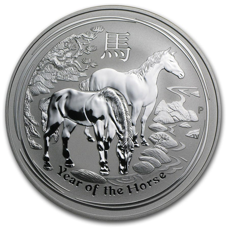 2014 1 oz Silver Australian Year of the Horse (SII)