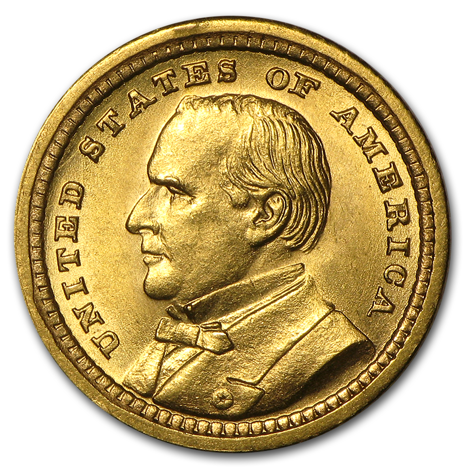 1903 $1.00 Gold Louisiana Purchase-McKinley-Uncirculated Details