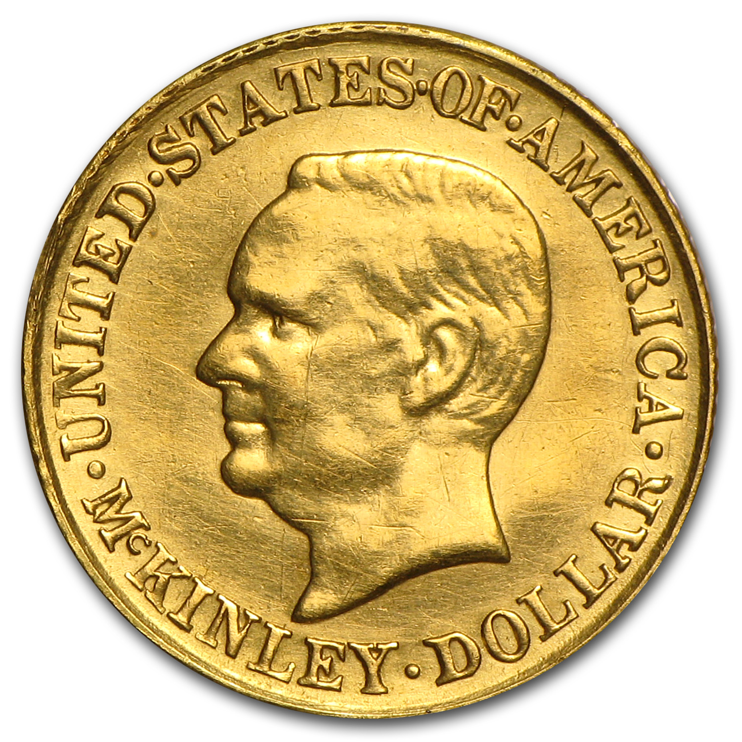 1916 $1.00 Gold McKinley - Almost Uncirculated Details