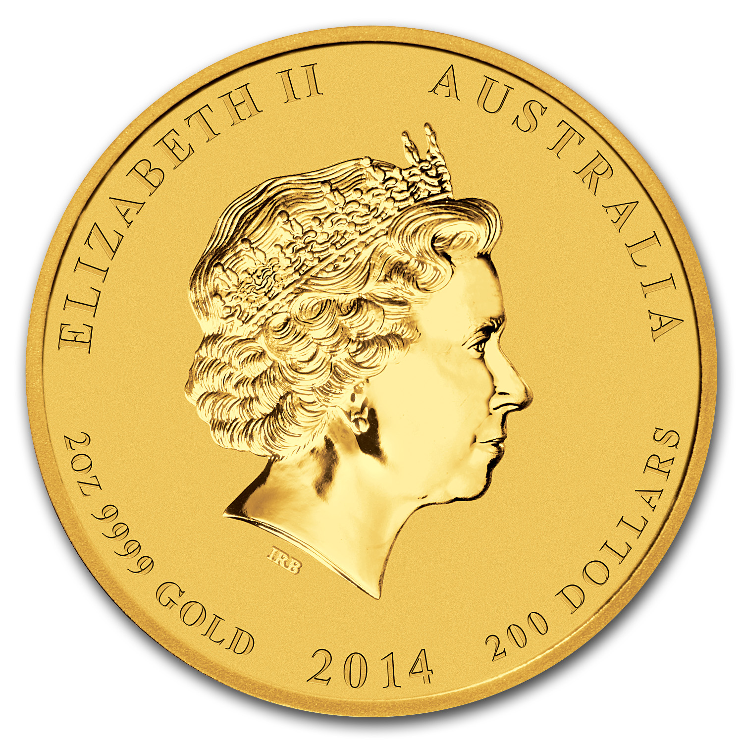 2014 Gold 2 oz Lunar Year of the Horse BU (Series II)
