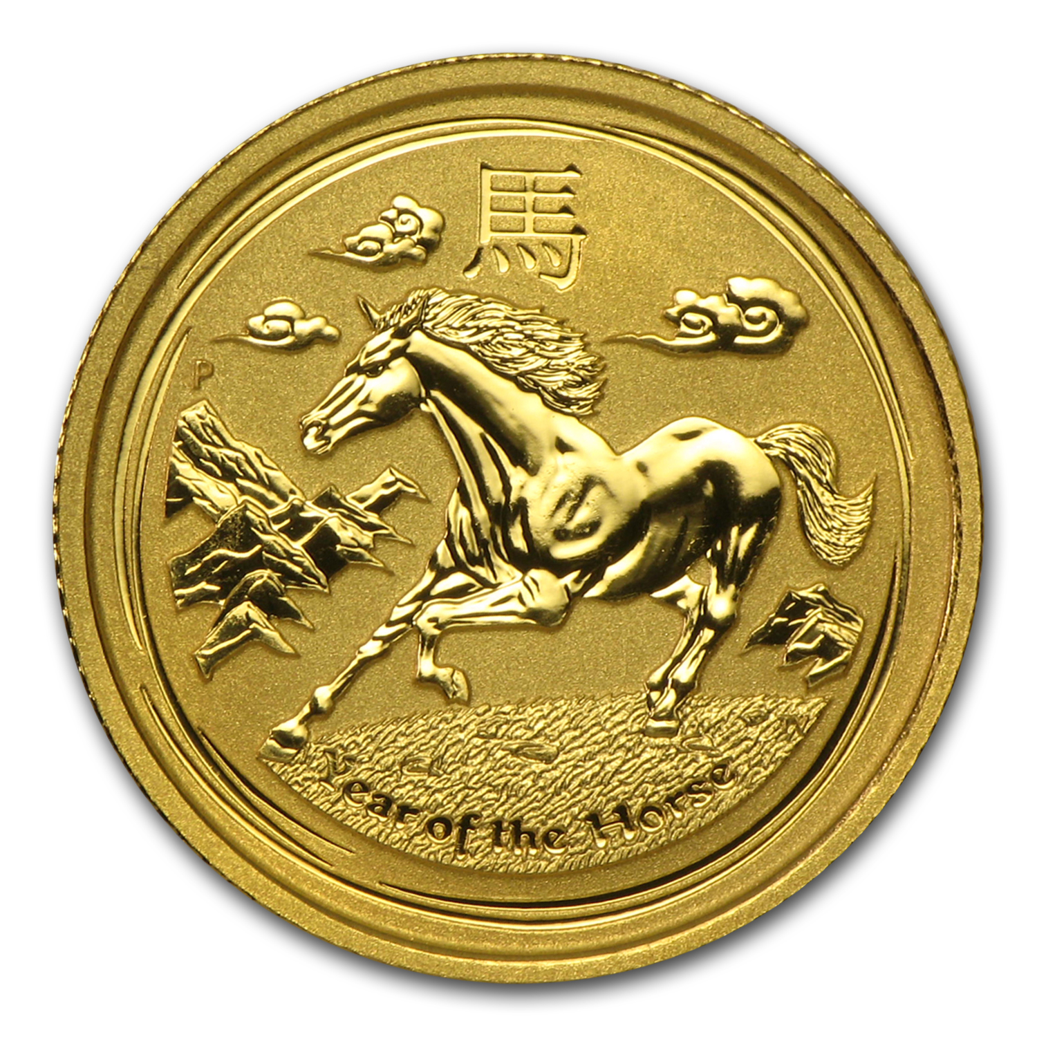 2014 1/10 oz Gold Lunar Year of the Horse BU (Series II)