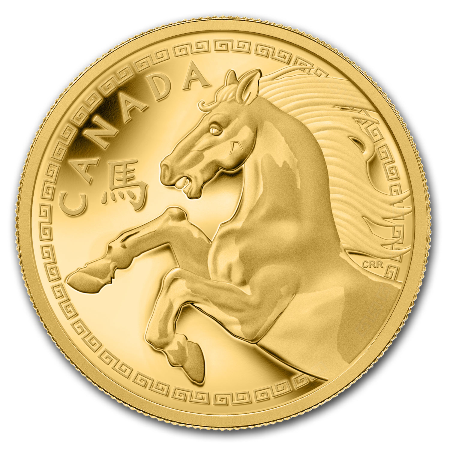 2014 Gold 1 Kilo Canadian $2,500 Year of the Horse Proof