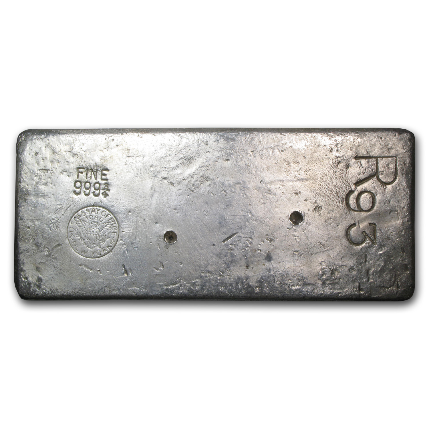 91.30 oz Silver Bar - New York Assay Office (1980)