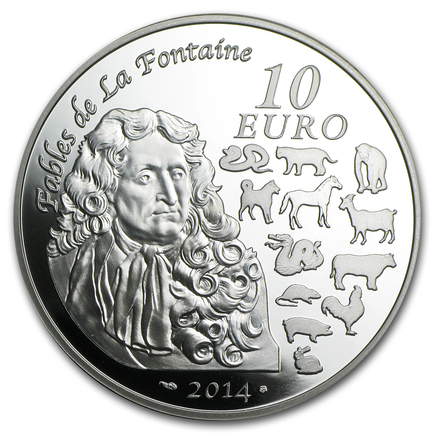2014 France Silver €10 Year of the Horse Proof (Lunar Series)