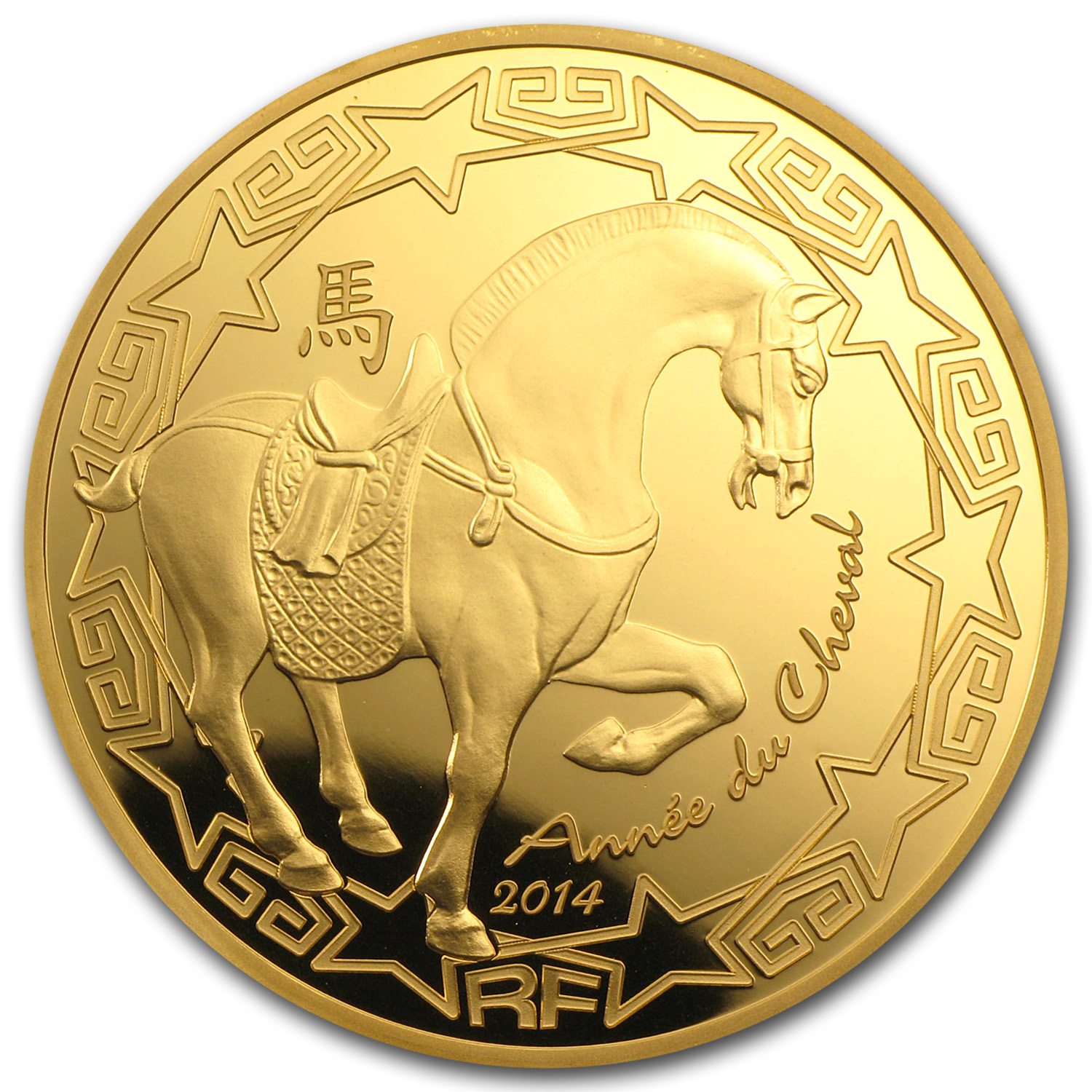 2014 1 oz Gold Proof Year of the Horse (€200) - Lunar Series