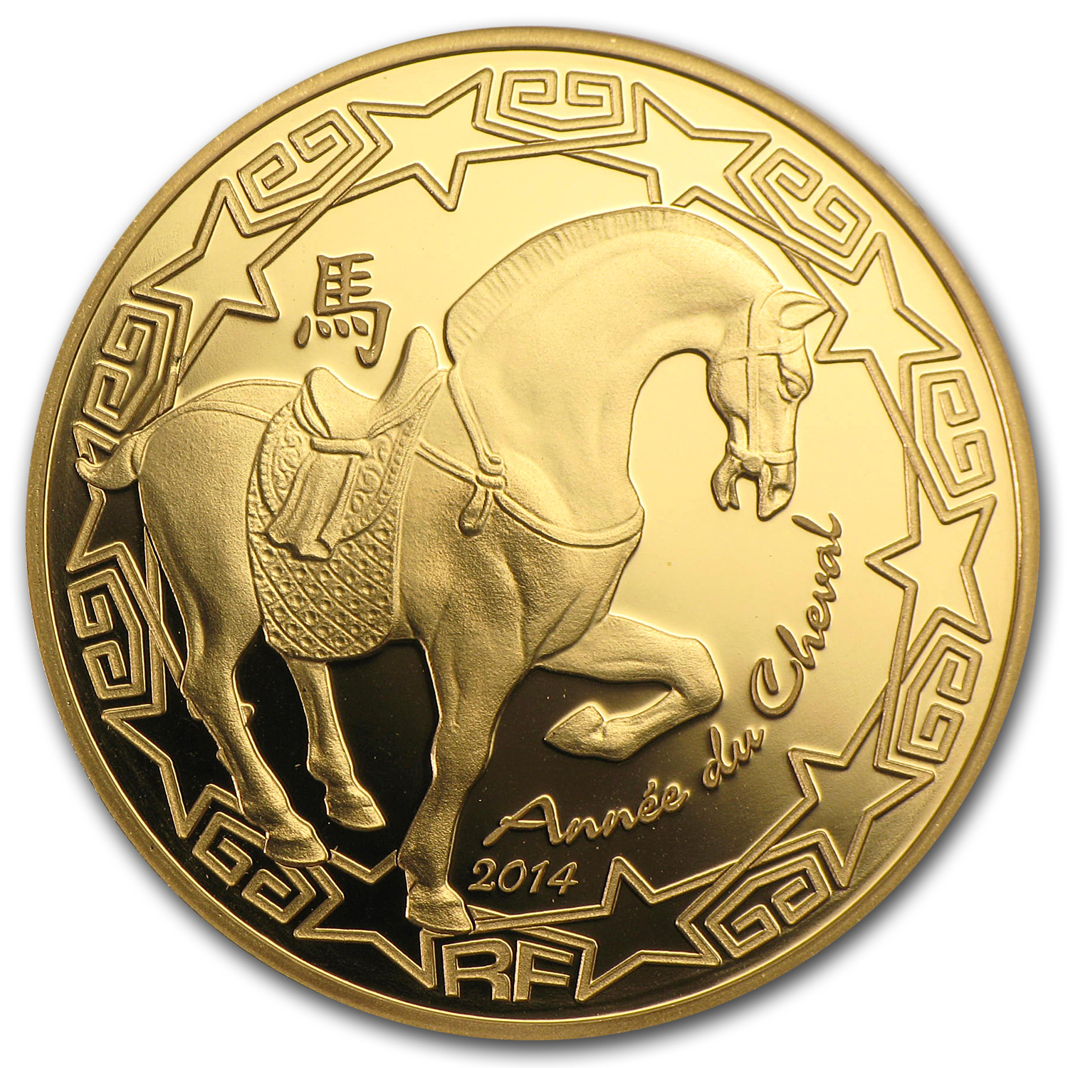 2014 1/4 oz Gold €50 Proof Year of the Horse - Lunar Series