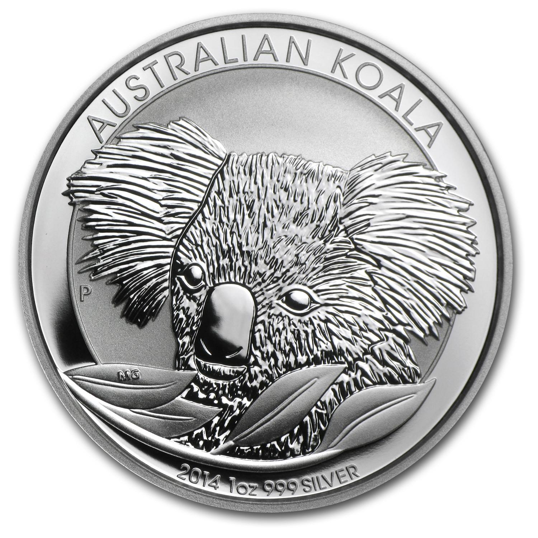 2014 Australia 1 Oz Silver Koala Bu Perth Mint Koala