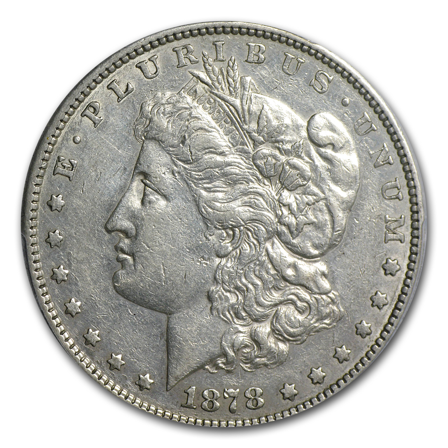 1878-S Morgan Dollar XF-45 PCGS (VAM-22, Doubled RIB Hot-50)