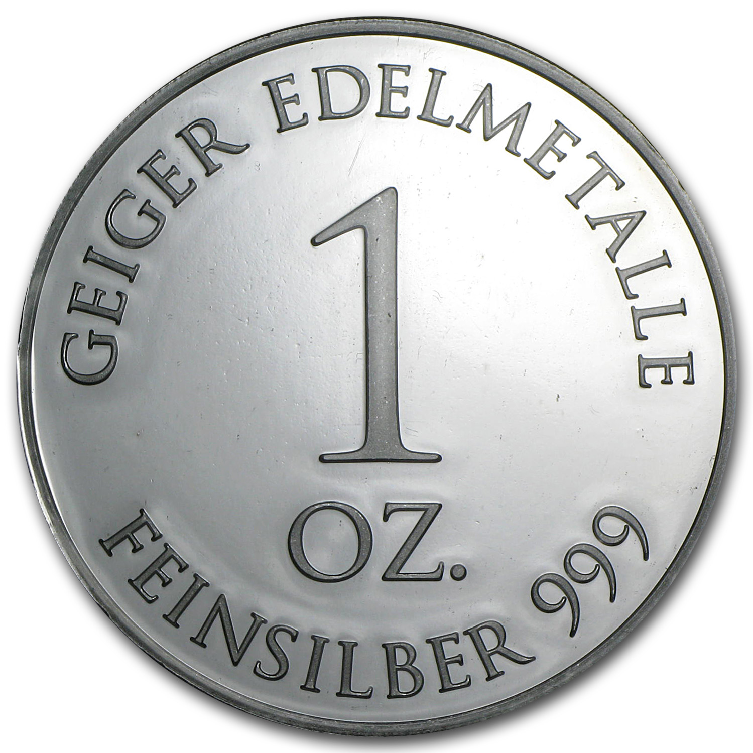 1 oz Silver Rounds - Geiger 'Security Line'