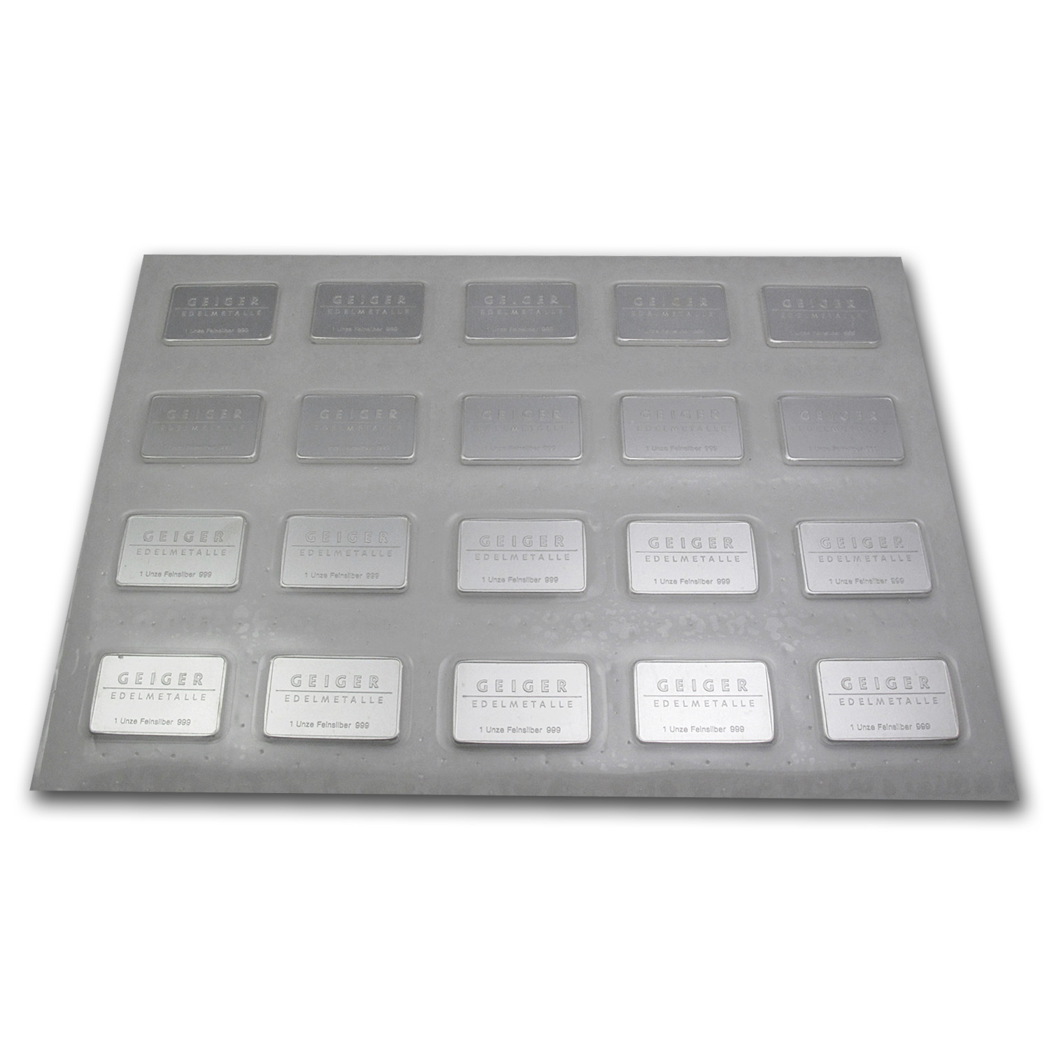 1 oz Silver Bar - Geiger (Security Line Series)