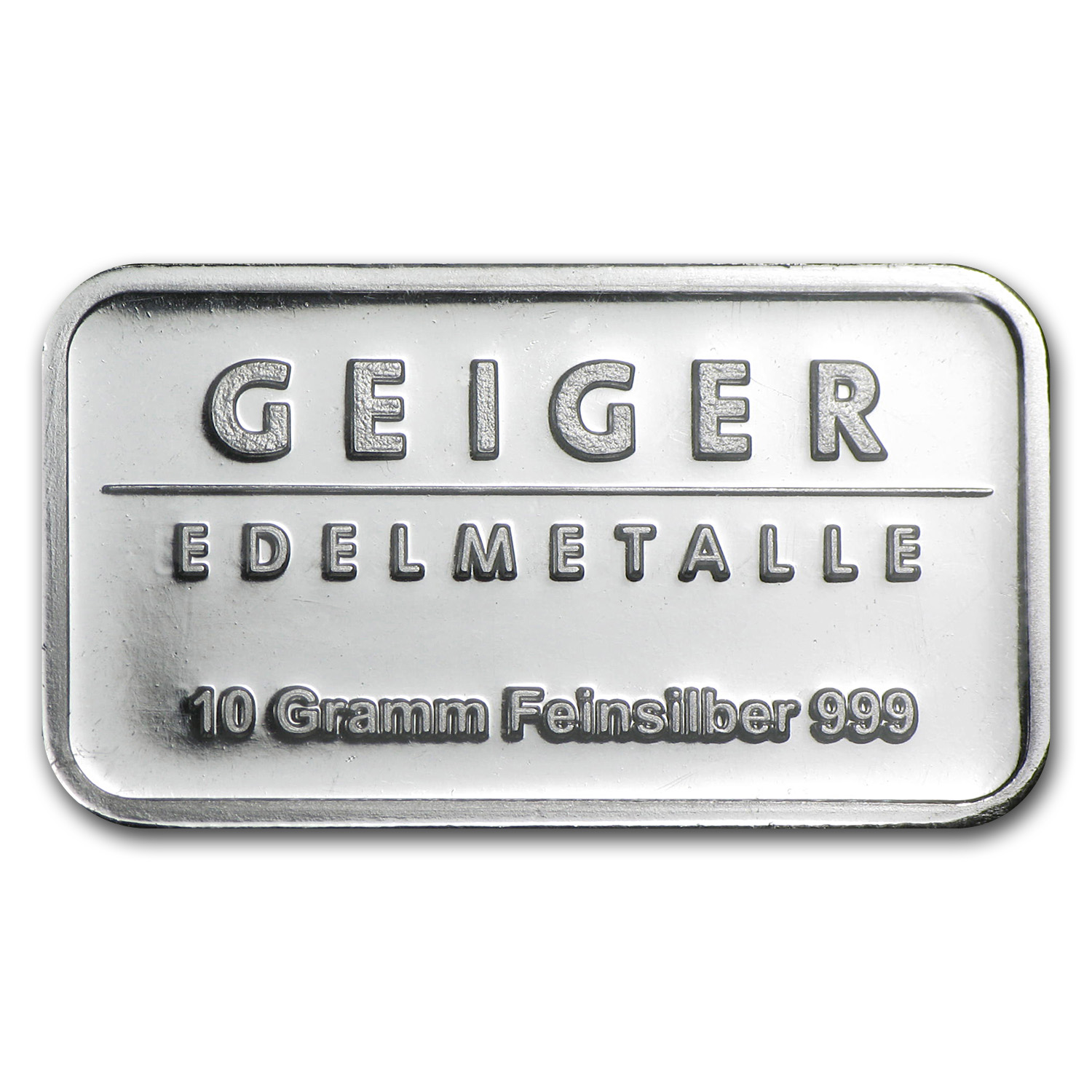10 gram Silver Bars - Geiger (Security Line Series)