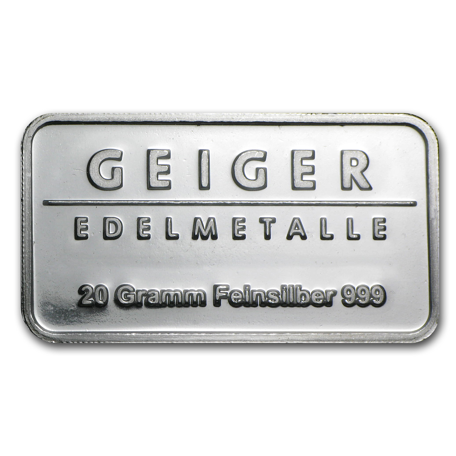 20 gram Silver Bar - Geiger (Security Line Series)