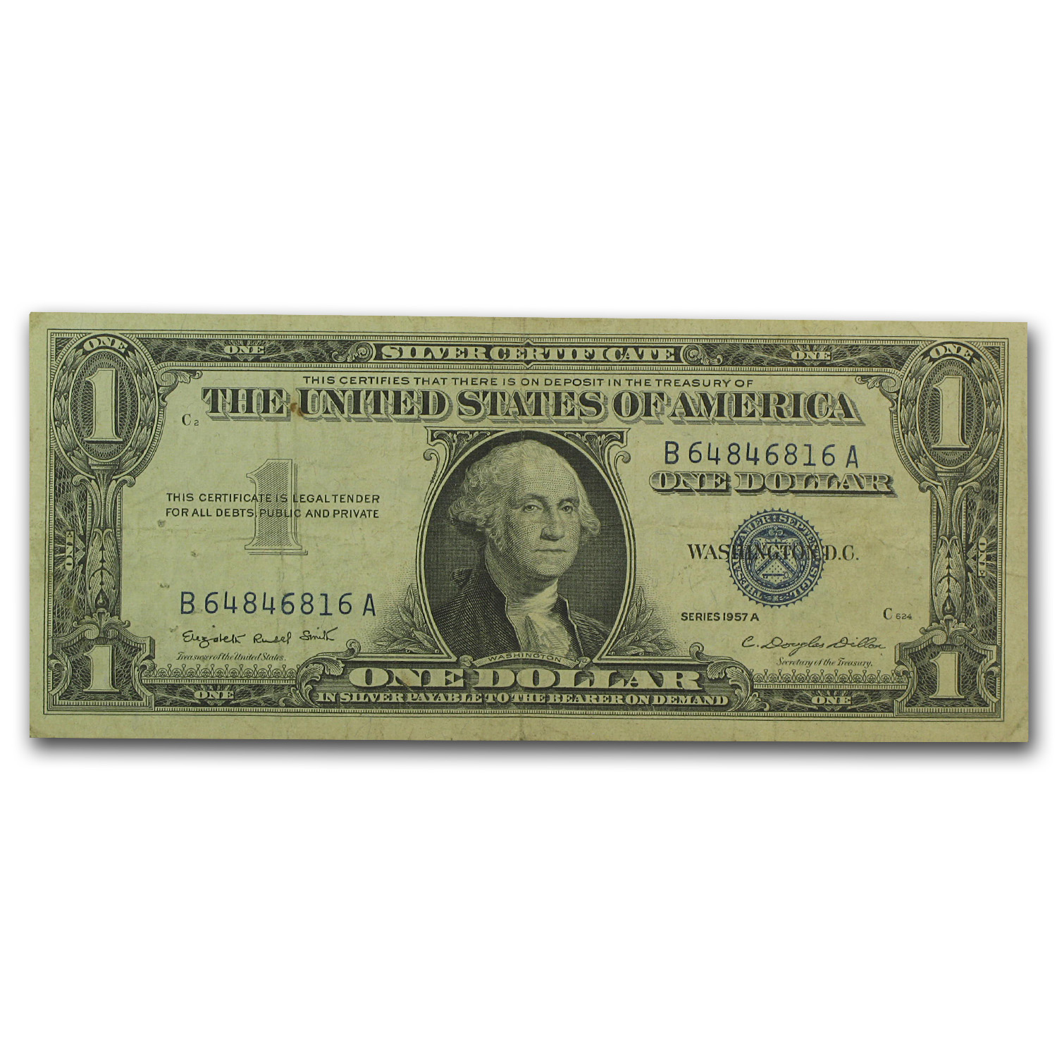 1957's $1.00 Silver Certificates (Lot of 10) VG - (Very Fine)