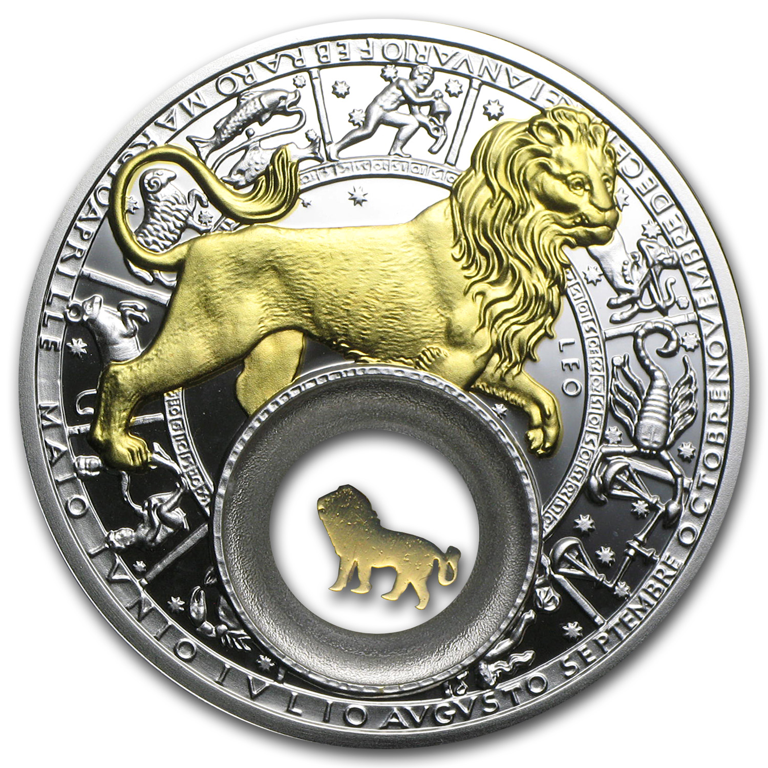 2013 Belarus Silver Proof 20 Rubles Zodiac Signs Leo
