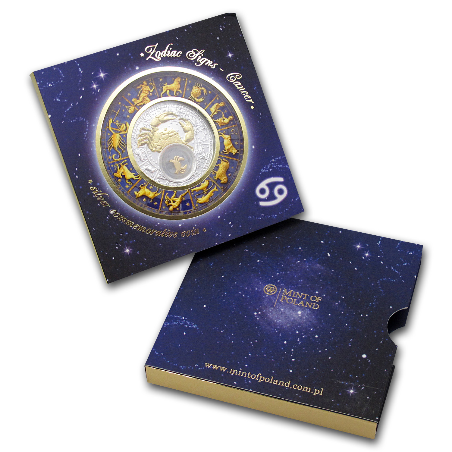 Belarus 2013 Silver Proof 20 Rubles Zodiac Signs - Cancer