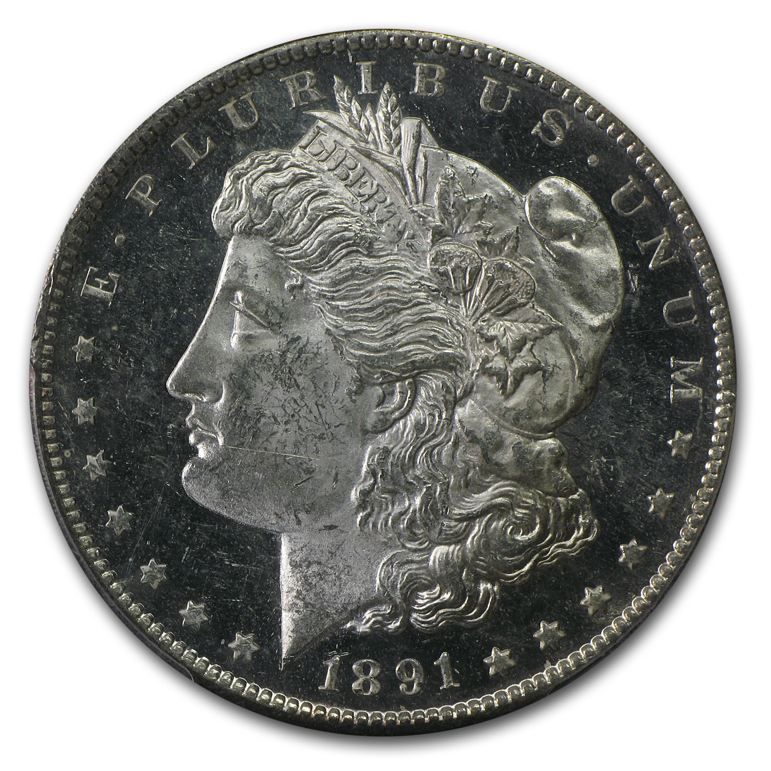 1891-S Morgan Dollar MS-63 PL Proof Like PCGS