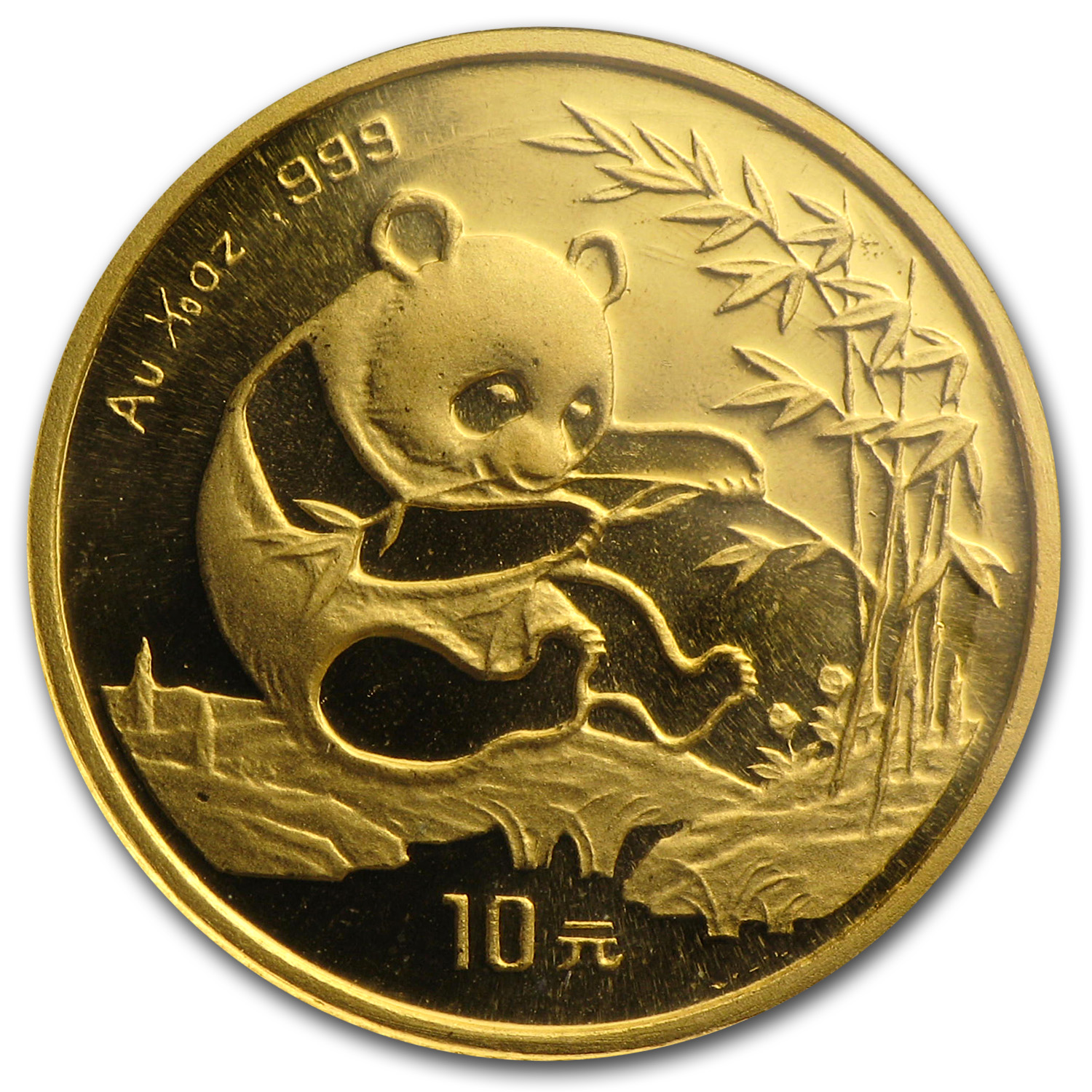 1994 China 1/10 oz Gold Panda Large Date BU (Sealed)