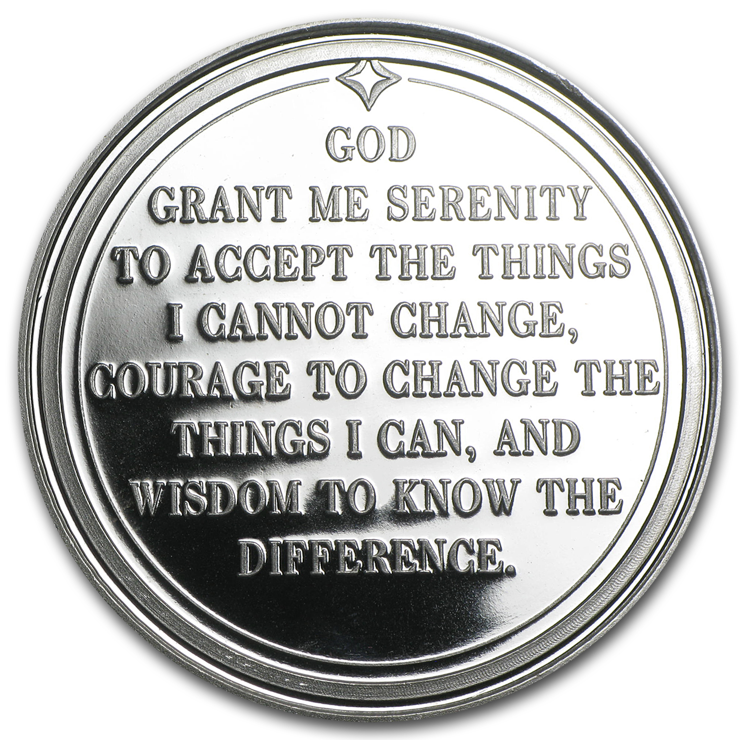 1 oz Silver Round - Serenity Prayer (w/Red Pouch & Cap)