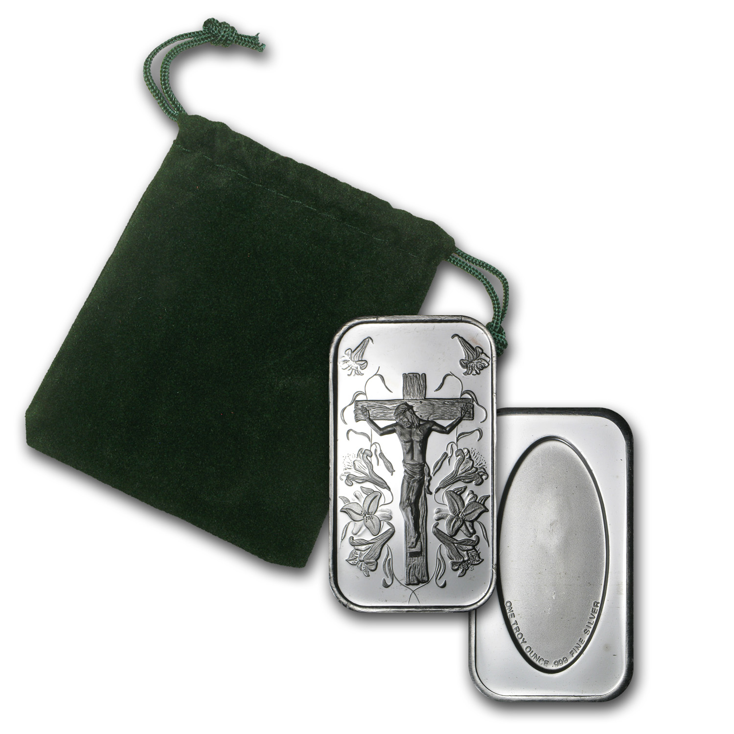 1 oz Silver Bars - Jesus (w/Green Pouch)