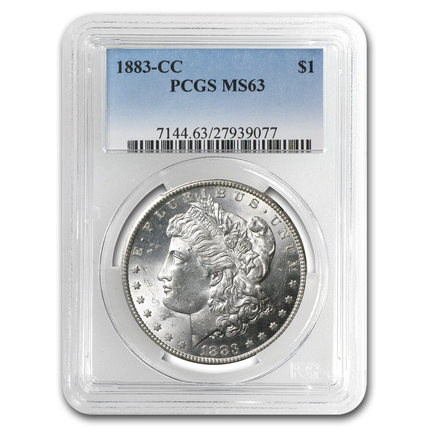 1882-1884-CC Morgan Dollars MS-63 PCGS (Carson City Mint)