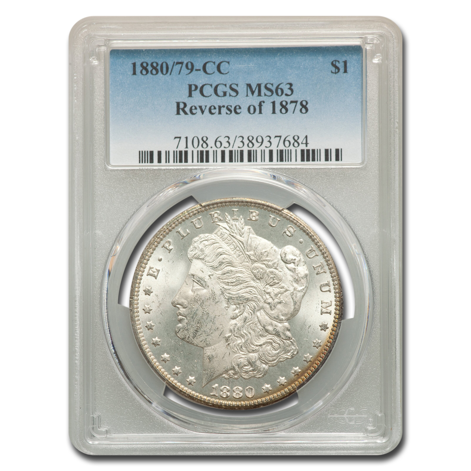 1880/79-CC Morgan Dollar - Reverse of 1878 - MS-63 PCGS