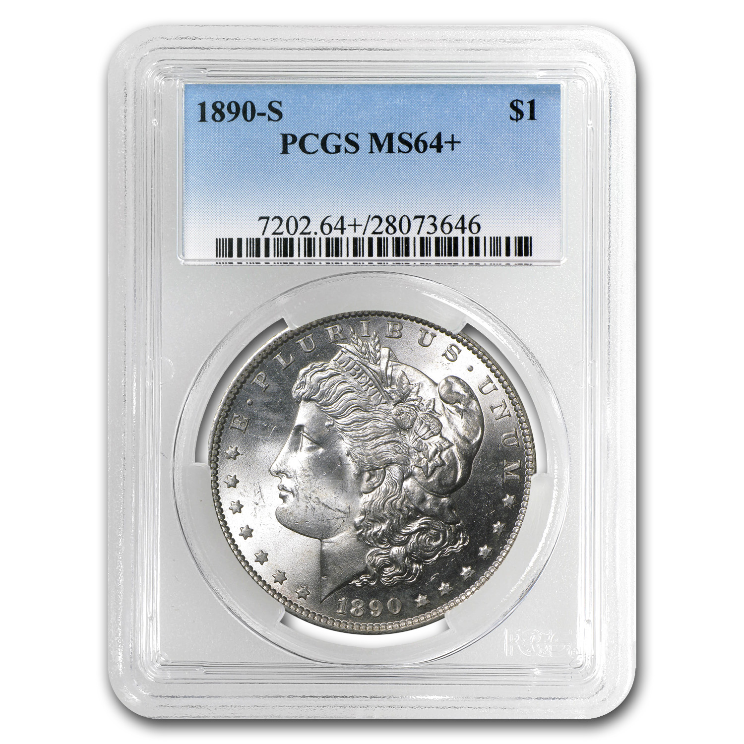 1890-S Morgan Dollar MS-64+ Plus PCGS
