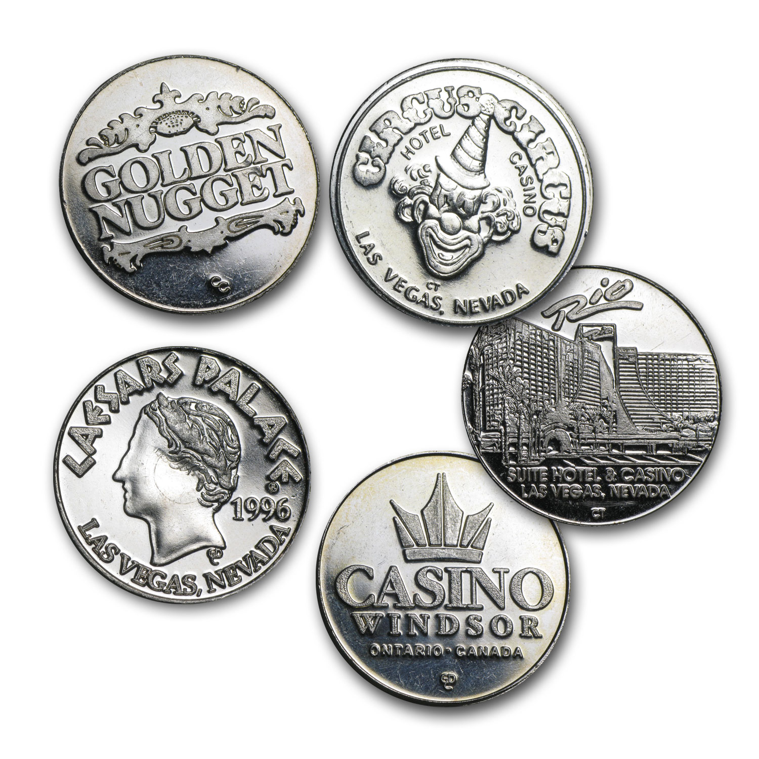 0.60 oz Silver Rounds - Gaming/Casino Token (Knockouts)