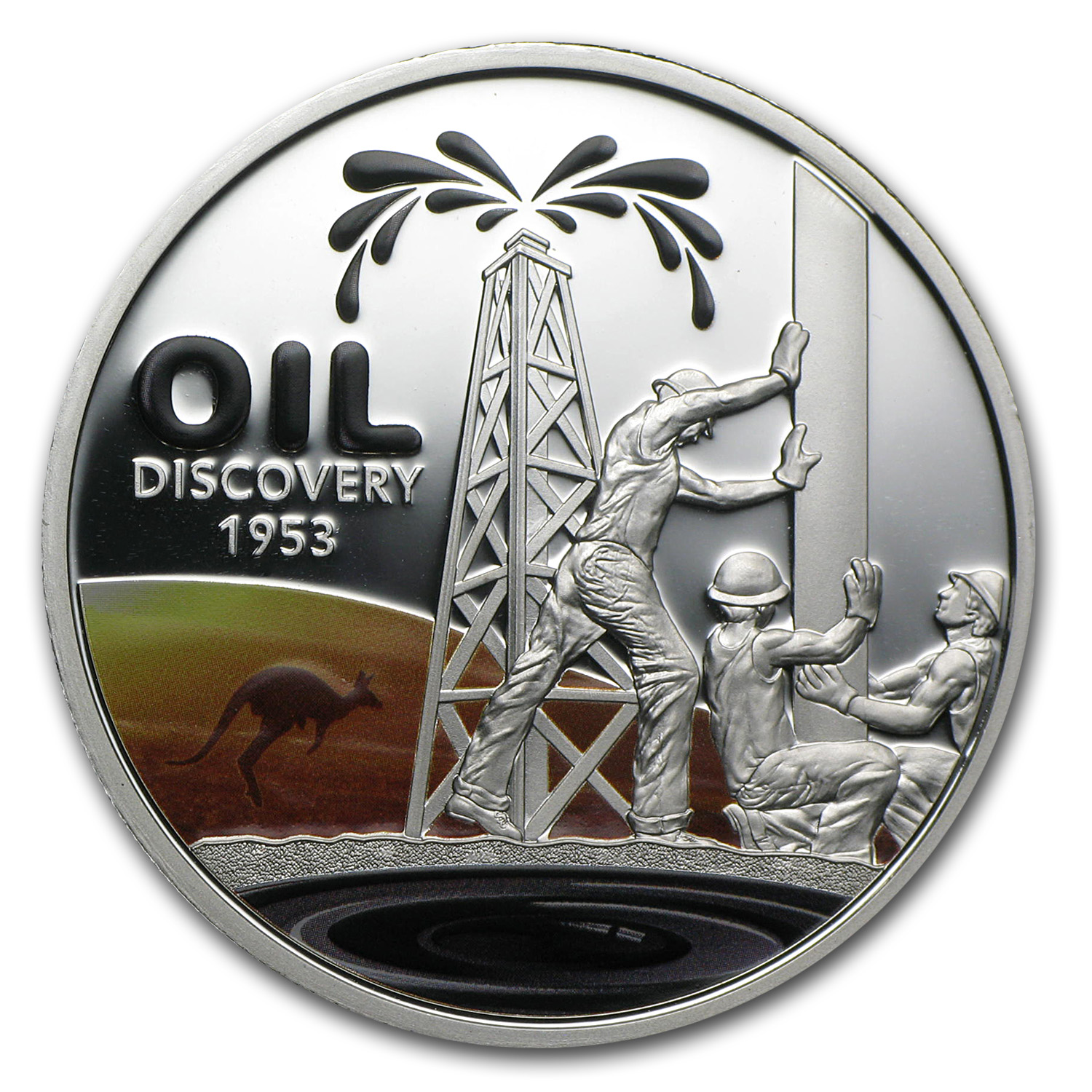 2013 1 oz Silver $1 60th Anniversary of Oil Discovery Proof