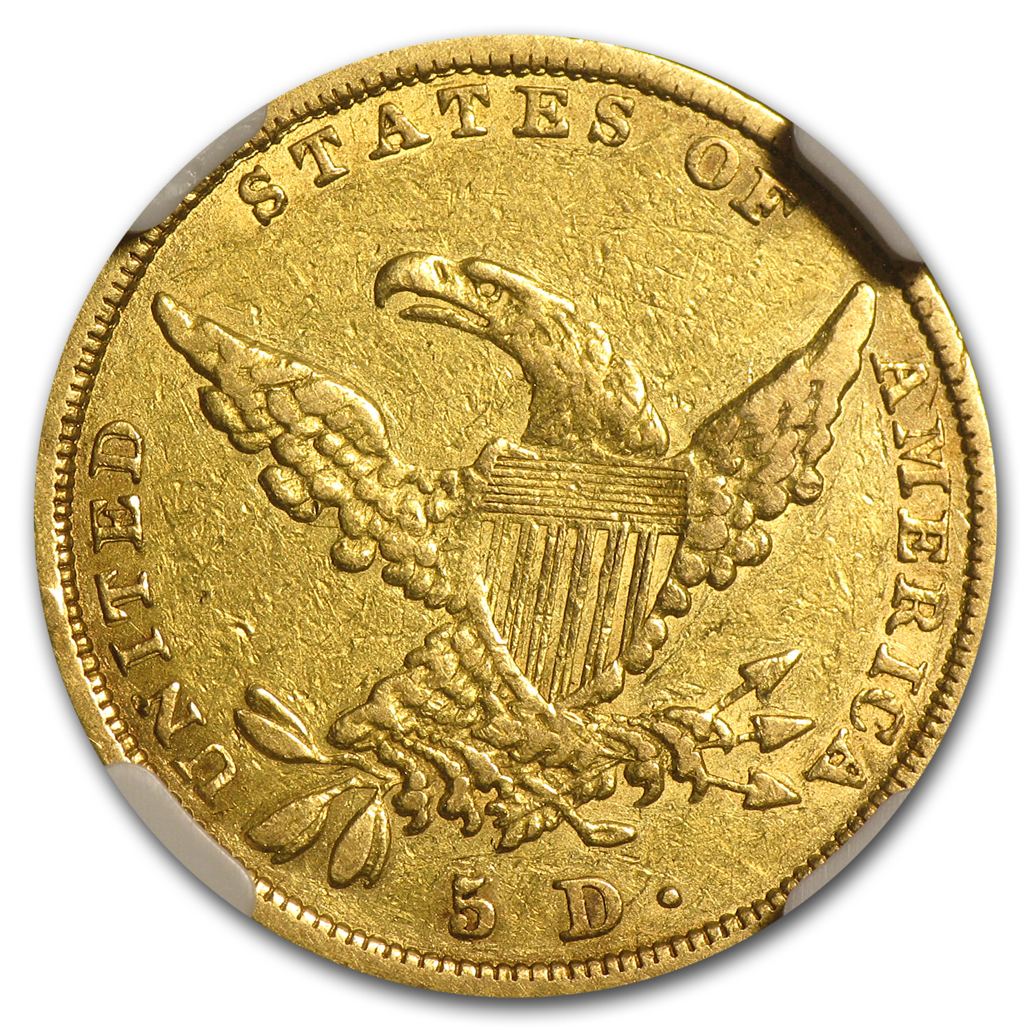 1837 $5 Gold Classic Head Half Eagle - XF Details NGC - (Scratch)