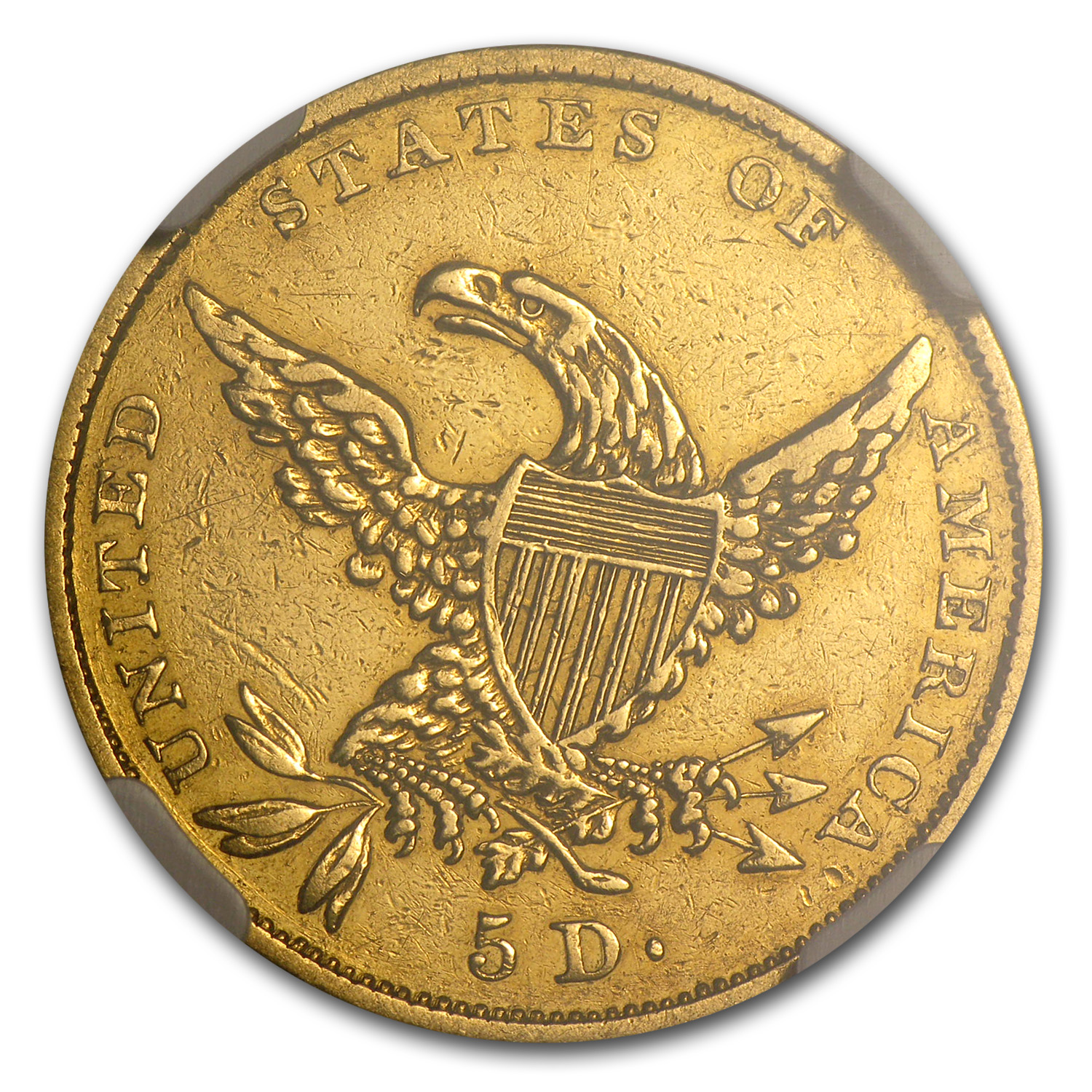 1835 $5 Gold Classic Head Half Eagle XF Details NGC (Cleaned)