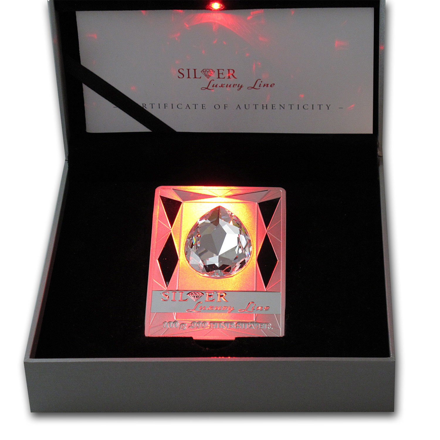 2013 Cook Islands Proof Silver $20 Luxury Line Swarovski Crystal