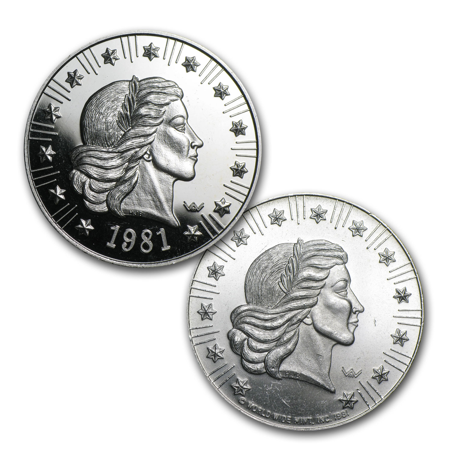 1 oz Silver Rounds - World Wide Mint (Liberty)