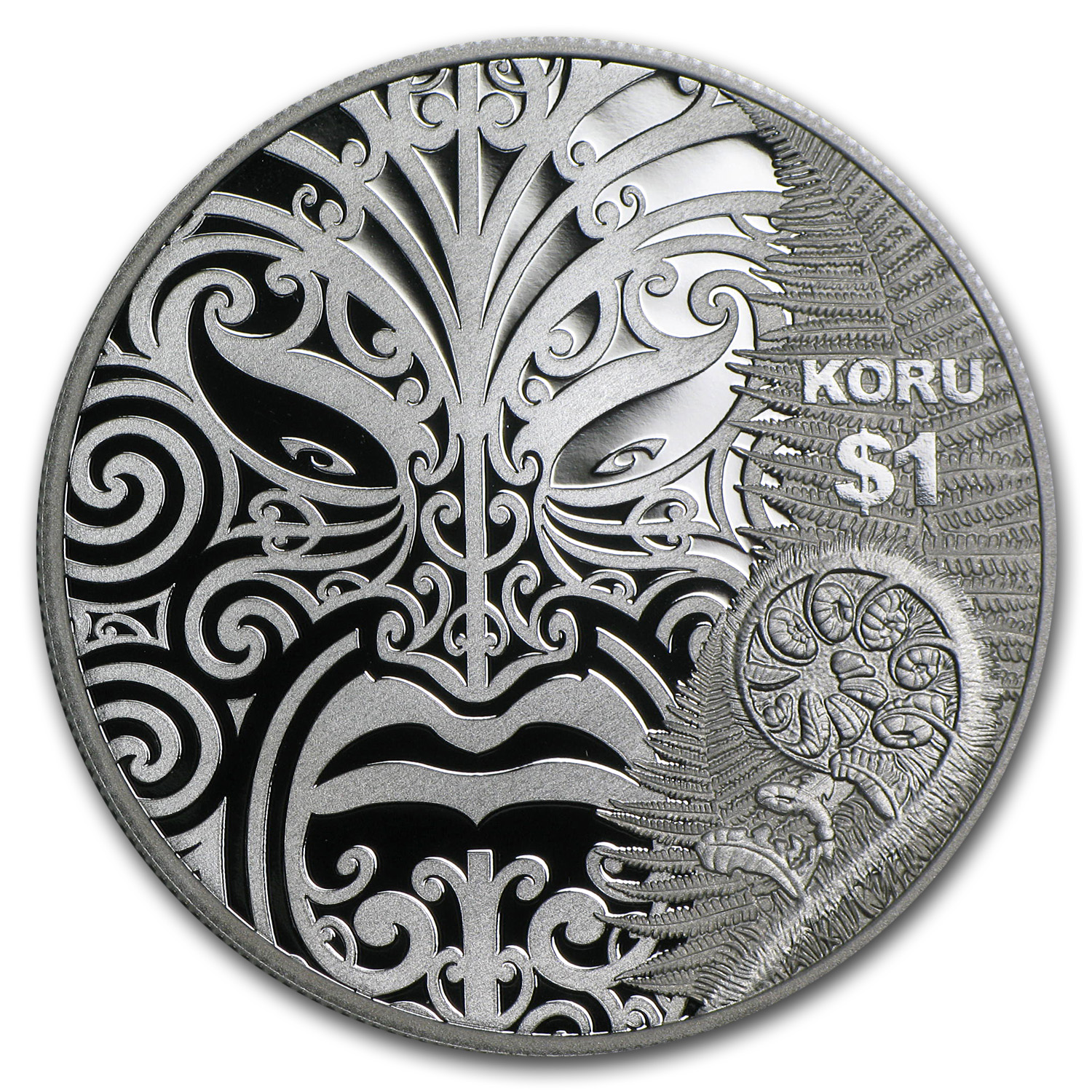 2013 1 oz Silver Proof New Zealand - Maori Art: Koru