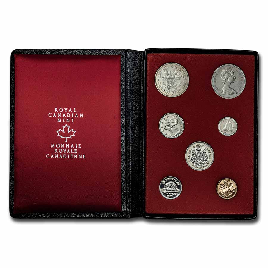 Canada 1971 Double Dollar Specimen Set - 7 Coin Set