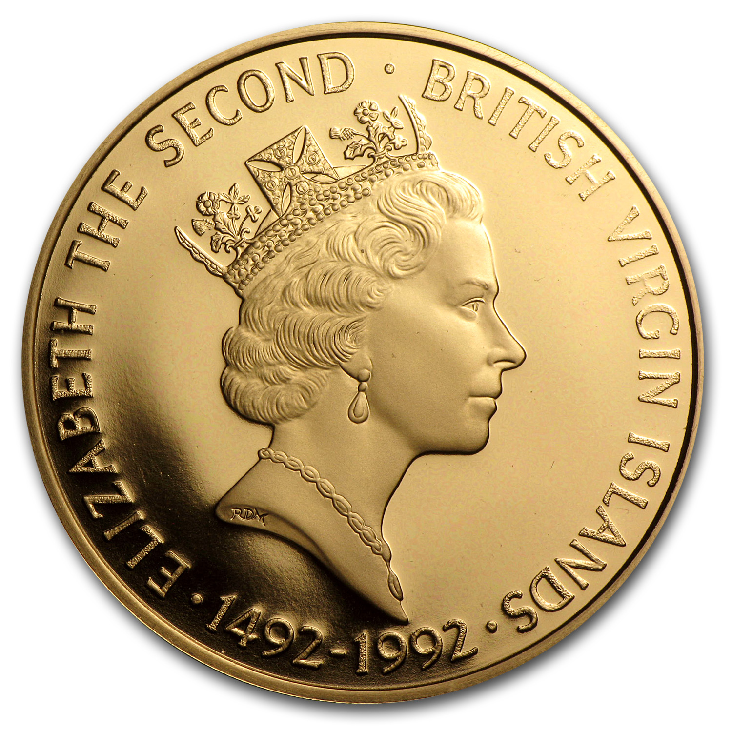 1992 British Virgin Islands Proof Gold $500 Columbus