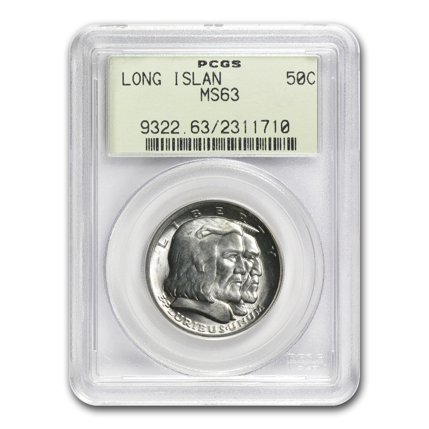 1936 Long Island Tercentenary Half Dollar MS-63 PCGS