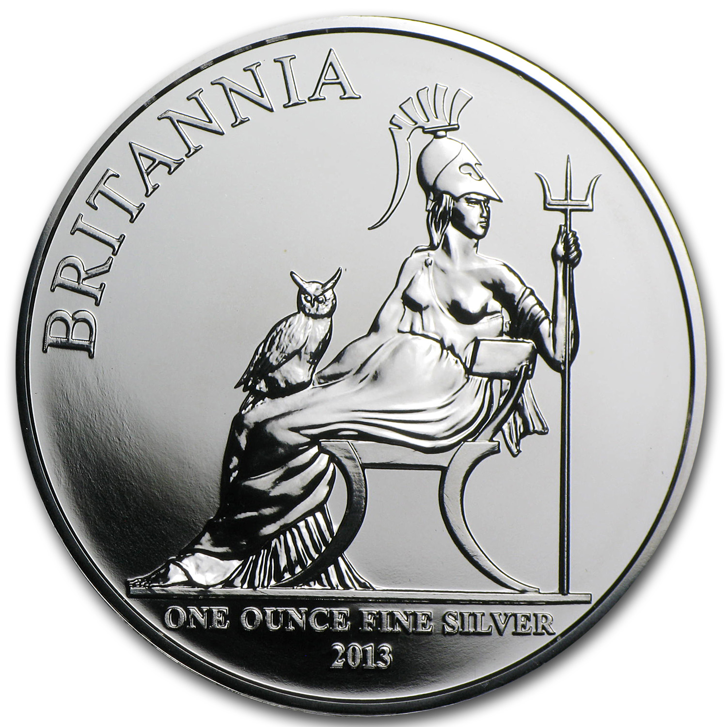 2013 Great Britain 1 oz Silver Britannia Premier BU