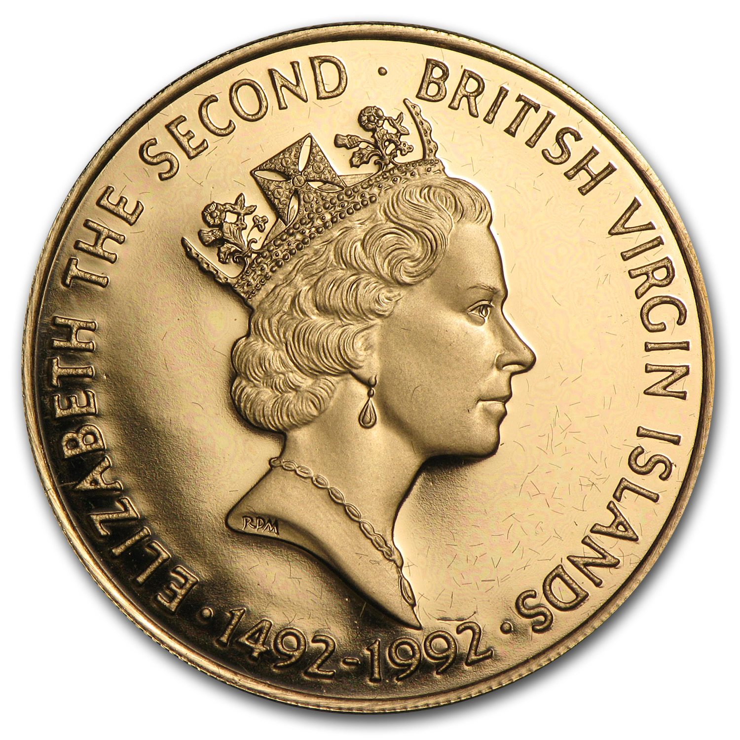 British Virgin Islands 1992 $250 Gold Proof Columbus