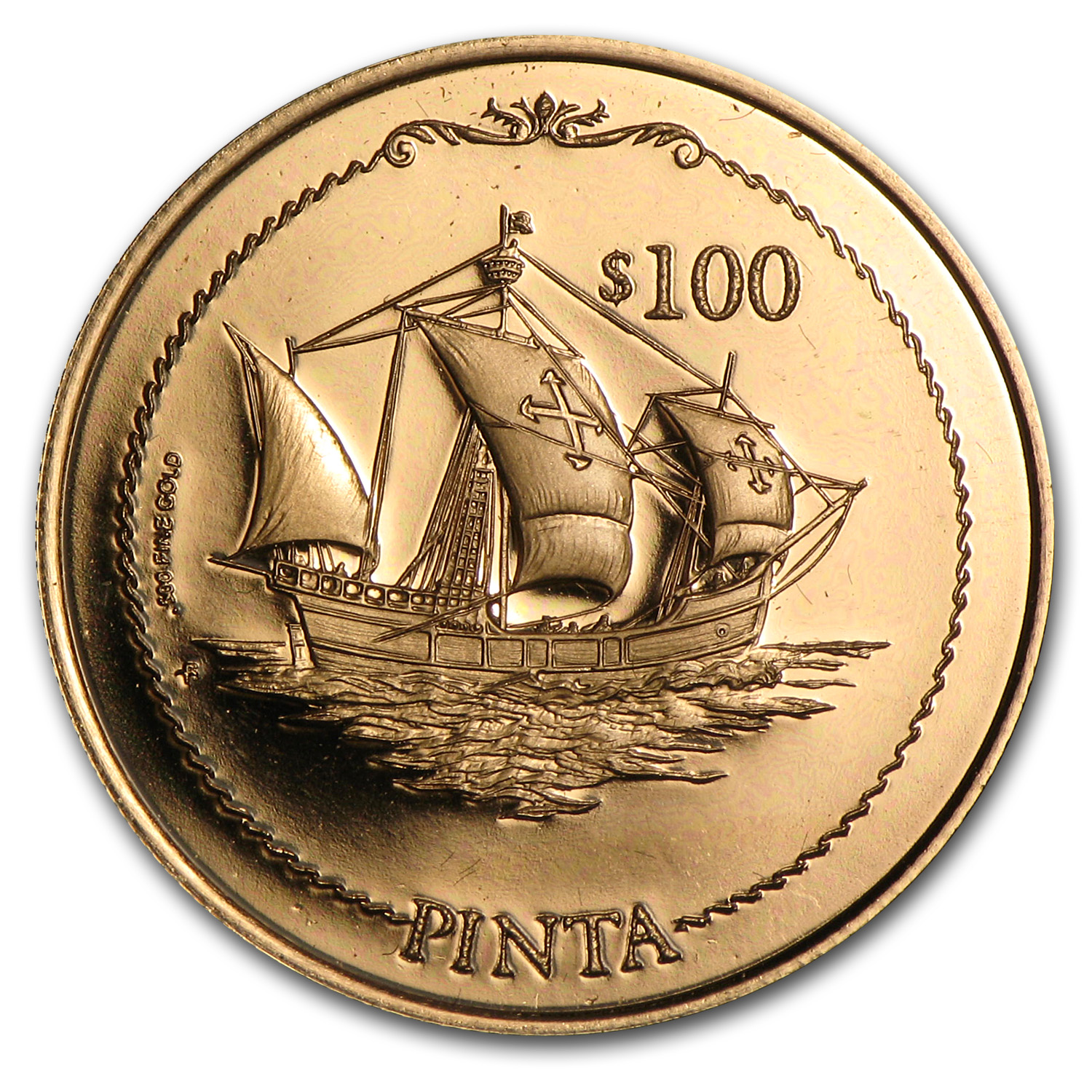 British Virgin Islands 1992 $100 Gold Proof Columbus
