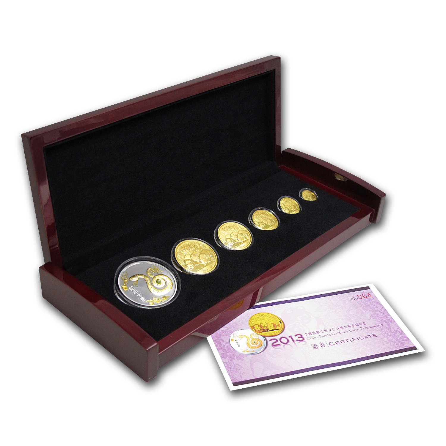 2013 China Panda Gold and Lunar Premium Set (Year of the Snake)