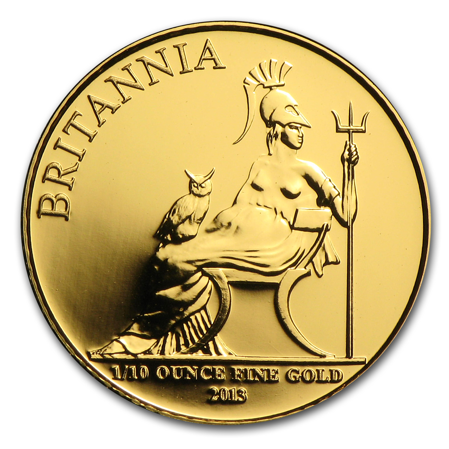 2013 Great Britain 1/10 oz Gold Britannia BU