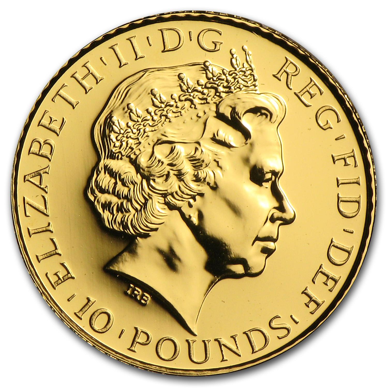2013 Great Britain 1 10 Oz Gold Britannia Bu 1 10 Oz