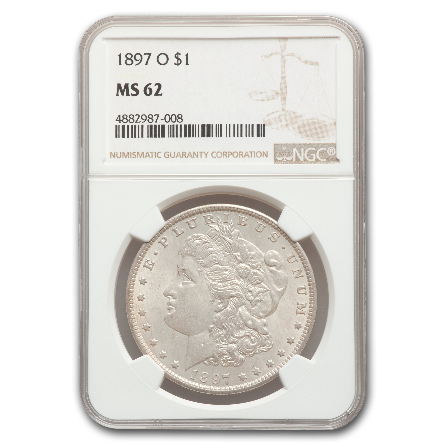 1897-O Morgan Dollar MS-62 NGC