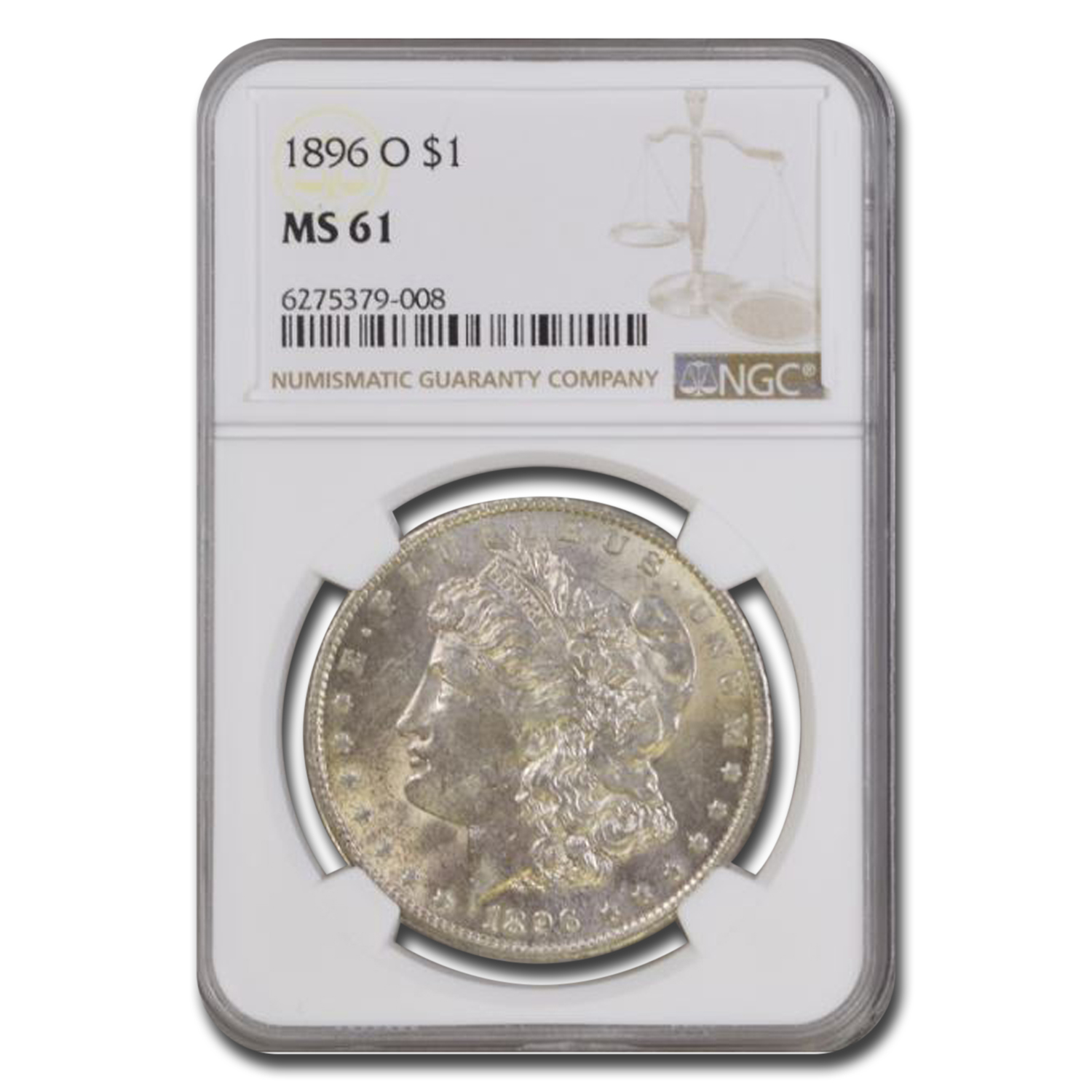 1896-O Morgan Dollar MS-61 NGC