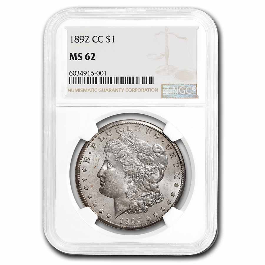 1892-CC Morgan Dollar MS-62 NGC