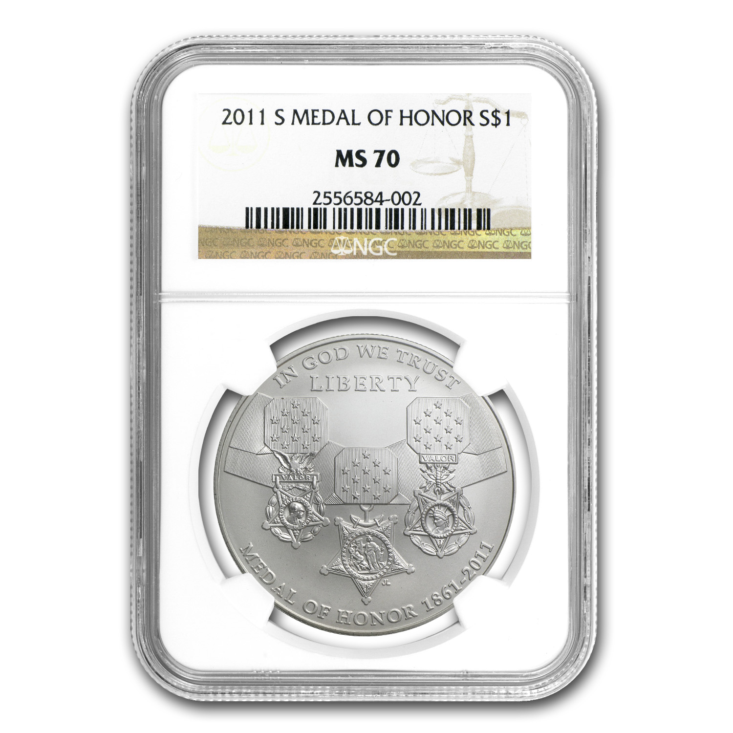 2011-S Medal of Honor $1 Silver Commem MS-70 NGC