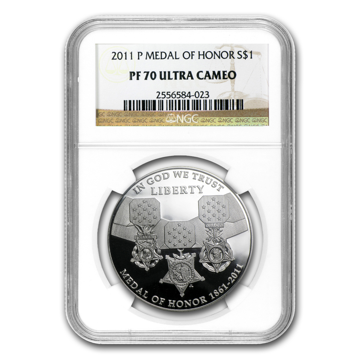 2011-P Medal of Honor $1 Silver Commemorative PF-70 NGC
